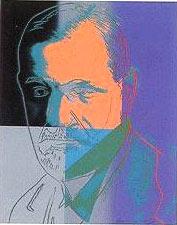 Retrato de Freud realizado por Andy Warhol